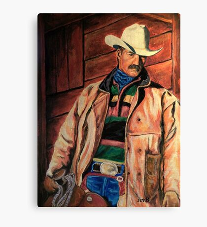 Workin' Man Of The West Canvas Print