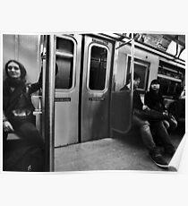 Subway Commuting Poster