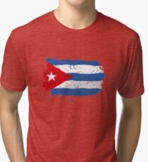 Cuba Flag Tri-blend T-Shirt