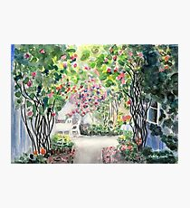 Roses in  a Swedish Courtyard Photographic Print