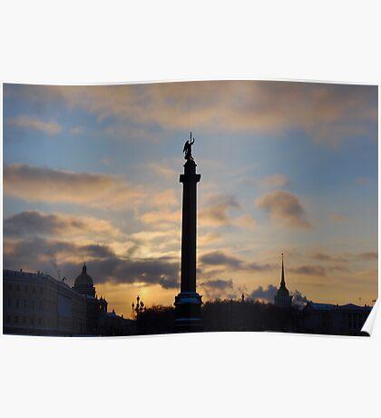 Alexander Column, St Petersburg, Russia Poster