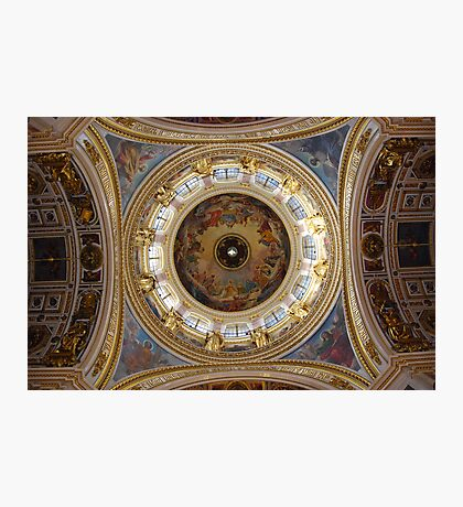 The Dome, Cathedral of St. Isaac of Dalmatia , St Petersburg, Russia Photographic Print