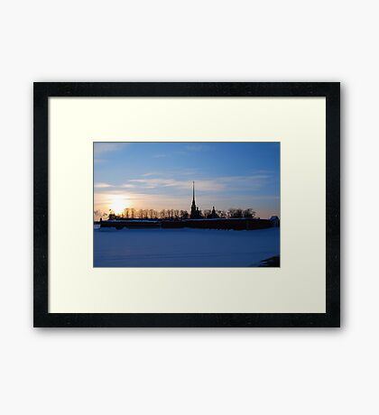 The Peter and Paul Fortress, St Petersburg, Russia Framed Print