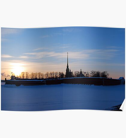 The Peter and Paul Fortress, St Petersburg, Russia Poster