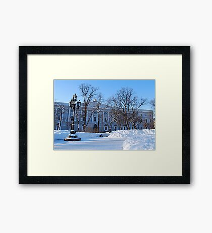 The Russian National Library, St Petersburg, Russia Framed Print