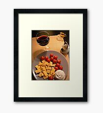 tomatto cheese n decorative roseB Framed Print