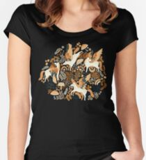 Cinnamon Pegasi  Fitted Scoop T-Shirt