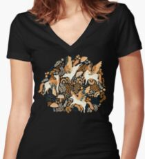 Cinnamon Pegasi  Fitted V-Neck T-Shirt