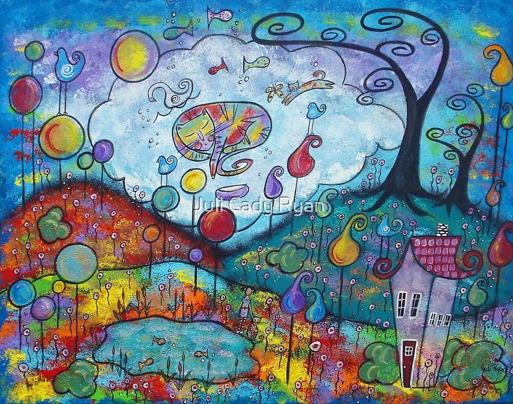 Kitty Dreams-acrylic by Juli Cady Ryan