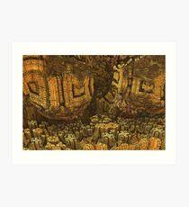 Escheristic Aztec City Art Print