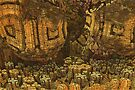 Escheristic Aztec City by Peter Berry