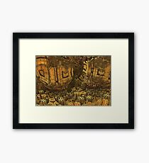 Escheristic Aztec City Framed Print