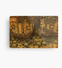 Escheristic Aztec City Metal Print