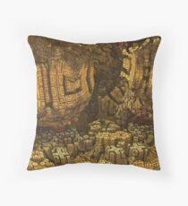 Escheristic Aztec City Throw Pillow