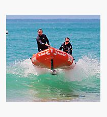IRB action at Lorne (02) Photographic Print