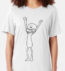 Mr. Meeseeks |Minimalism Slim Fit T-Shirt