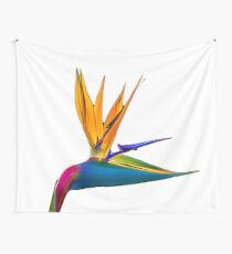 Bird of Paradise Flower (colour paint) Wall Tapestry
