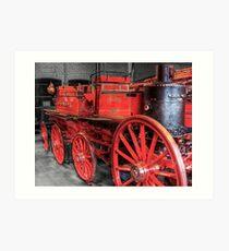 Antique Fire Engine Art Print