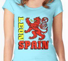 León, Spain Women's Fitted Scoop T-Shirt