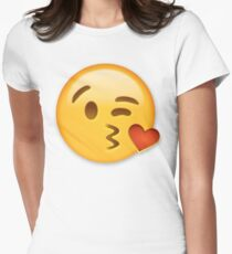 blowing a kiss Women's Fitted T-Shirt