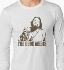 The Big Lebowski The Dude Abides T-Shirt Long Sleeve T-Shirt
