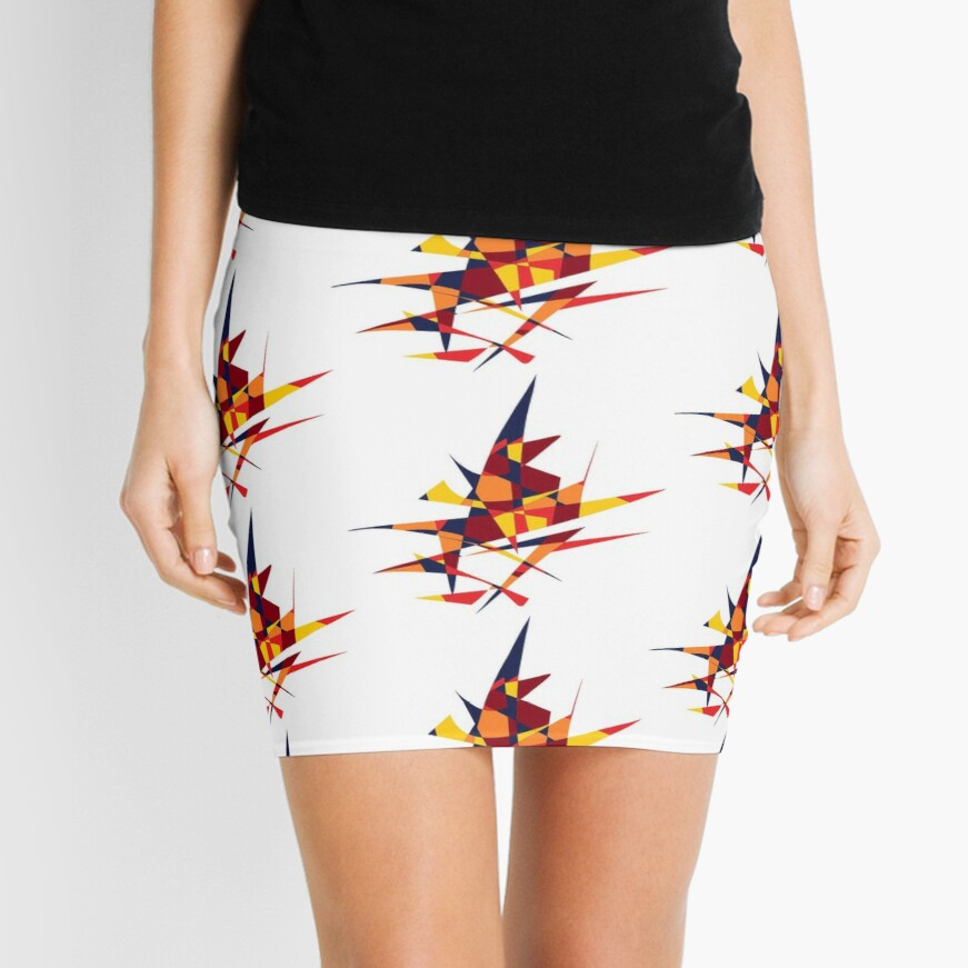 Wizard's Hat, Abstract (Designed by Just Stories) Mini Skirt