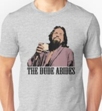 The Big Lebowski The Dude Abides Color T-Shirt Unisex T-Shirt