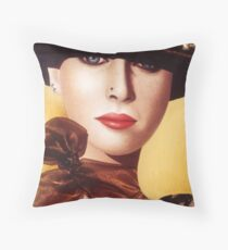 'Kerry' Portrait of a beautiful woman Throw Pillow