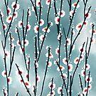 Plum Blossom Branch Pattern by tanyadraws