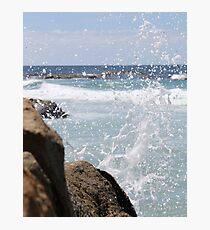 Water Splash-beer barrel beach  Photographic Print