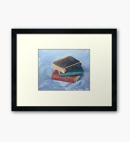 Old books - don't you just love `em Framed Print
