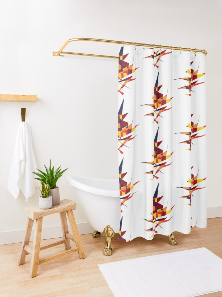 Alternate view of Wizard's Hat, Abstract (Designed by Just Stories) Shower Curtain
