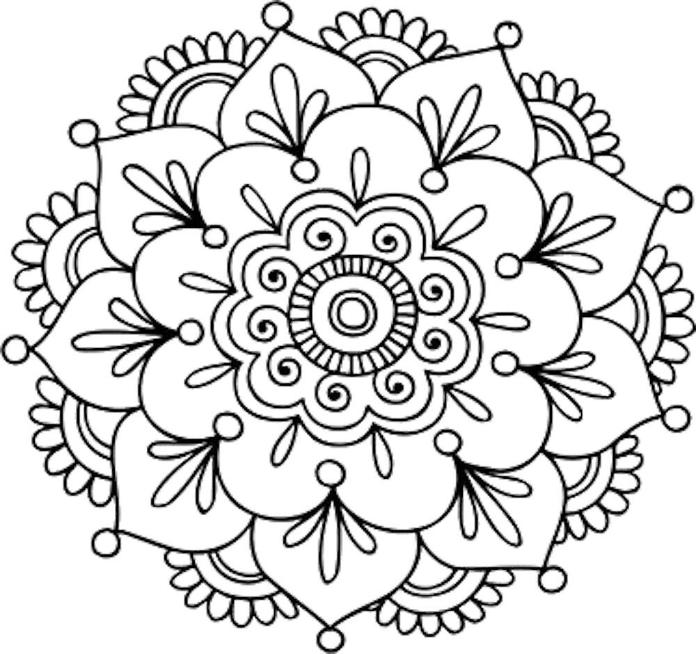 """Flower Dibujo: """"Simple Mandala Flower"""" By Mermaidnatalie"""