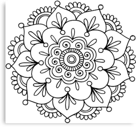Simple Mandala Flower\