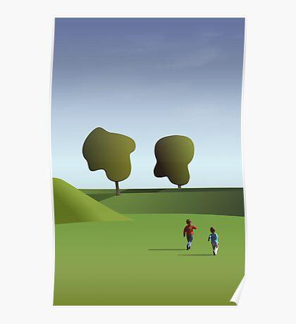 Kidz love to run in Copenhagen... Poster