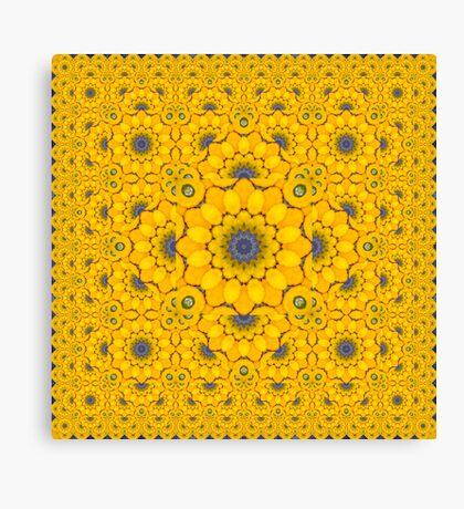 Golden Button Squash Escher Tessellation Canvas Print