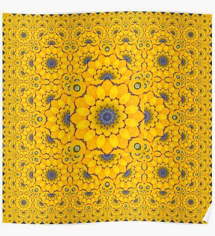 Golden Button Squash Escher Tessellation Poster