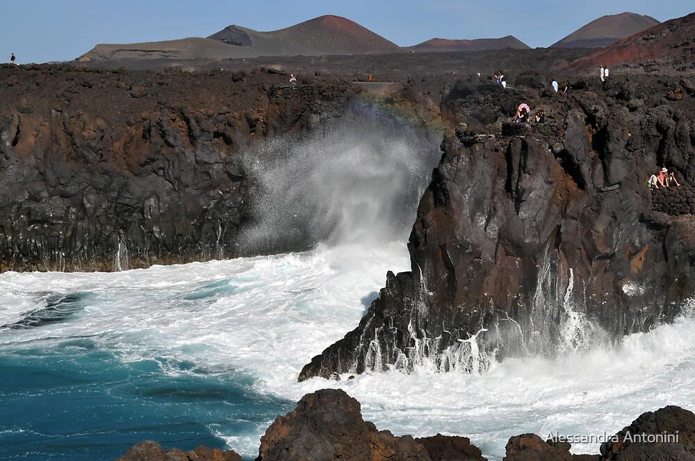 Los Hervideros Lanzarote Canary Island by Alessandra Antonini