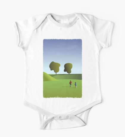 Kidz love to run in Copenhagen... (T-Shirt) Kids Clothes