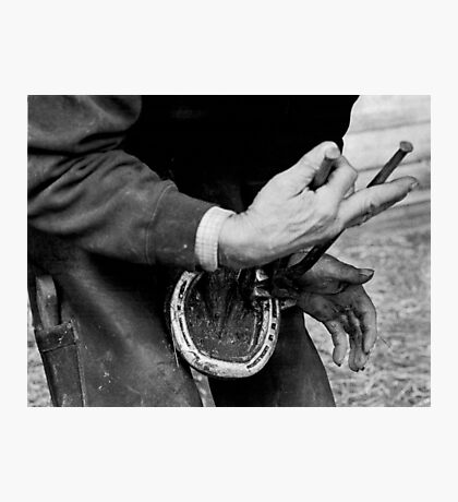 Detail farrier study (35mm) Photographic Print