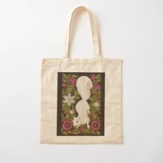first snow Cotton Tote Bag