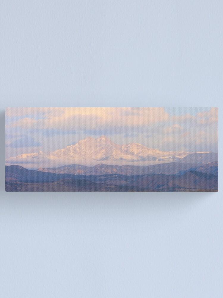 Alternate view of  Meeker and Longs Peak Twin Peaks Panorama Color Image Canvas Print