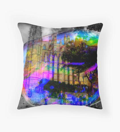 Basilica in a Bubble Throw Pillow