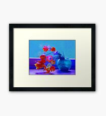 Midnight Tulips Framed Print