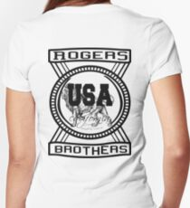 usa california lords tshirt by rogers bros Women's Fitted V-Neck T-Shirt