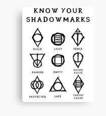 Know Your Shadowmarks (Dark) Canvas Print