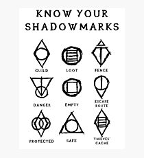 Know Your Shadowmarks (Dark) Photographic Print