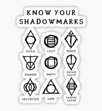 Know Your Shadowmarks (Dark) Sticker