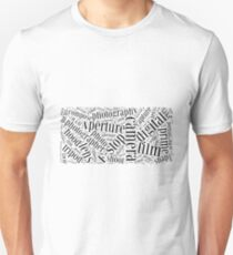Photography Word Cloud Unisex T-Shirt
