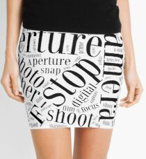 Photography Word Cloud Mini Skirt